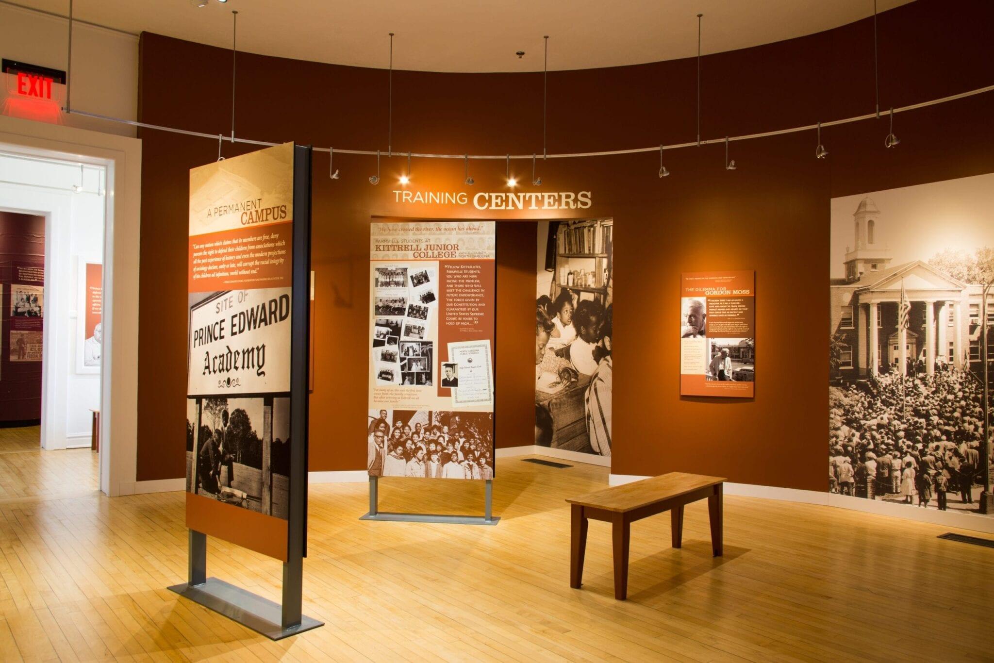 The Moton School Story: Children of Courage exhibit