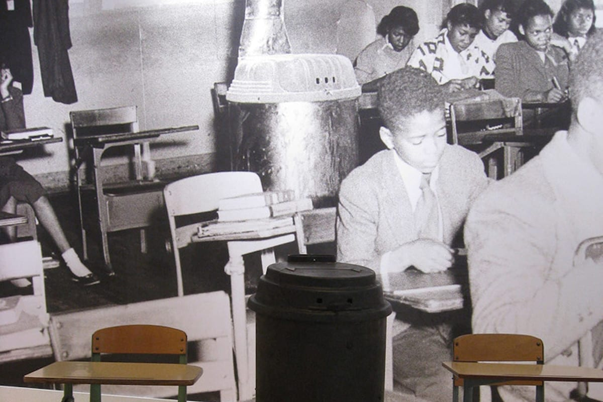 Moton museum classroom exhibit