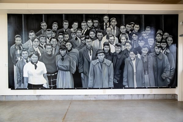 Moton student protesters mural